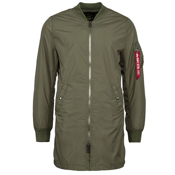 MA-1 Long Flight Jacket Sage Green