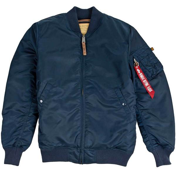 MA-1 Slim Fit Flight Jacket Replica Blue