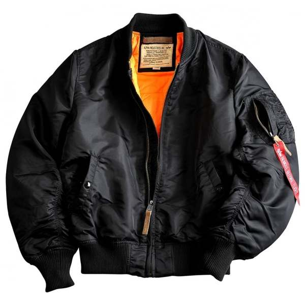 MA-1 Slim Fit Flight Jacket Black