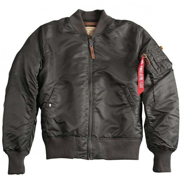 MA-1 Slim Fit Flight Jacket Replica Grey