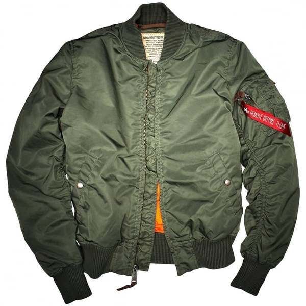 MA-1 Slim Fit Flight Jacket Sage Green