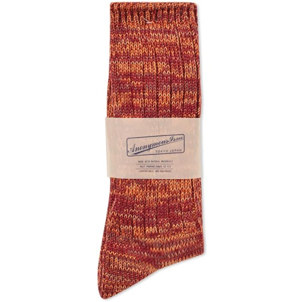 5 COLOUR MIX CREW SOCK ORANGE