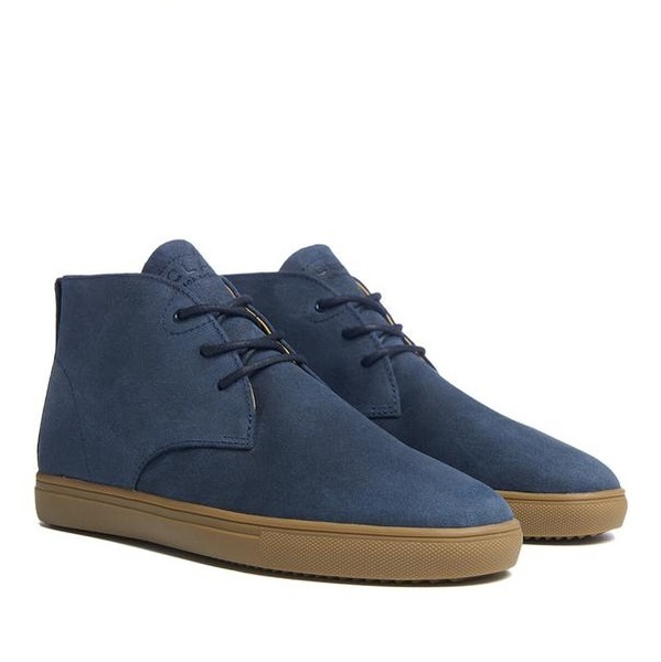 STRAYHORN SP NAVY WAXED SUEDE