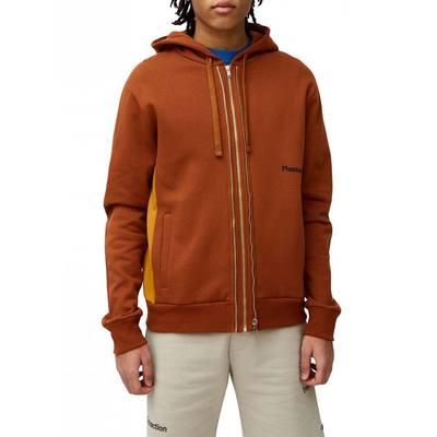 Isaac Zip Through Sweatshirt Brown