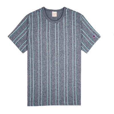REVERSE WEAVE Striped TEE grey
