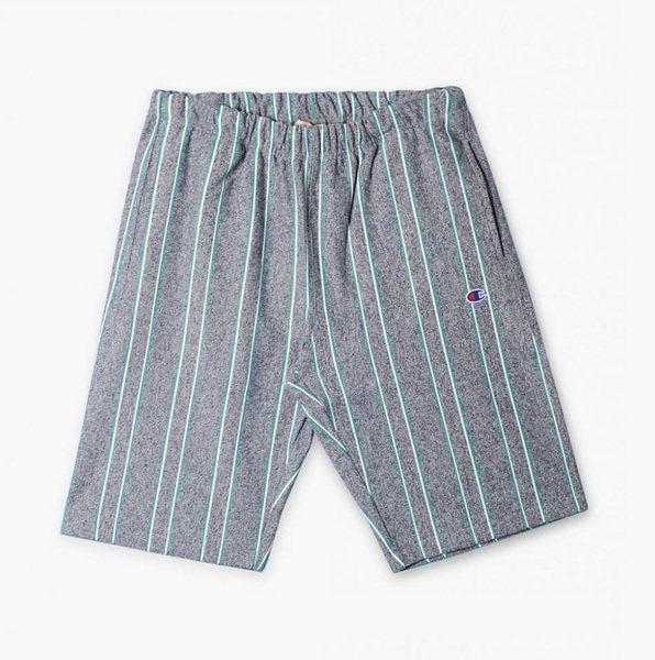 Reverse weave Track Short Striped grey