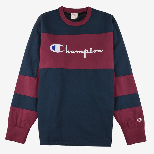 Champion Reverse Wave Crewneck Tech Pullover wine/navy