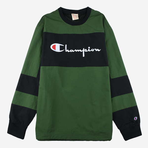 Champion Reverse Wave Crewneck Tech Pullover olive/Black