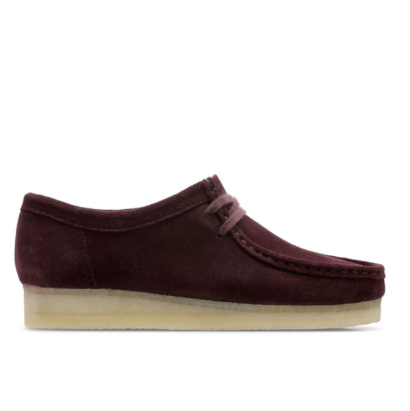 Wallabee burgundy suede