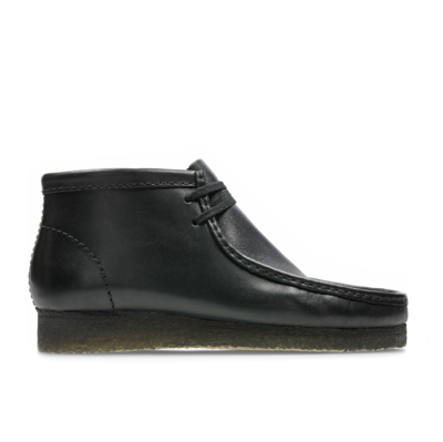 Wallabee Boot Black Leather