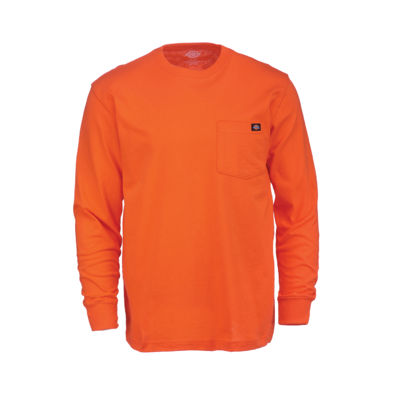 Long Sleeve Heavyweight Crew Neck Orange