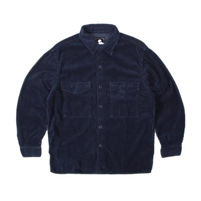 Big Shirt LS Corduroy Dress Blue