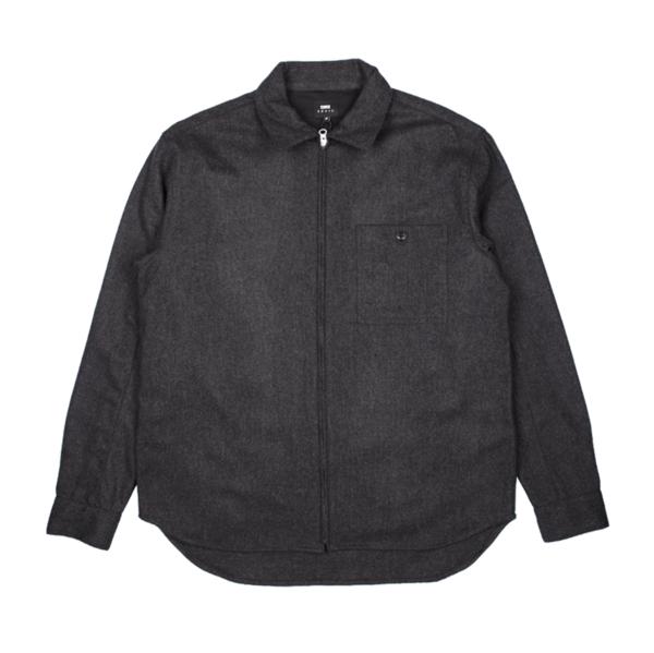 Wilson Zip Through Shirt LS Anthracite