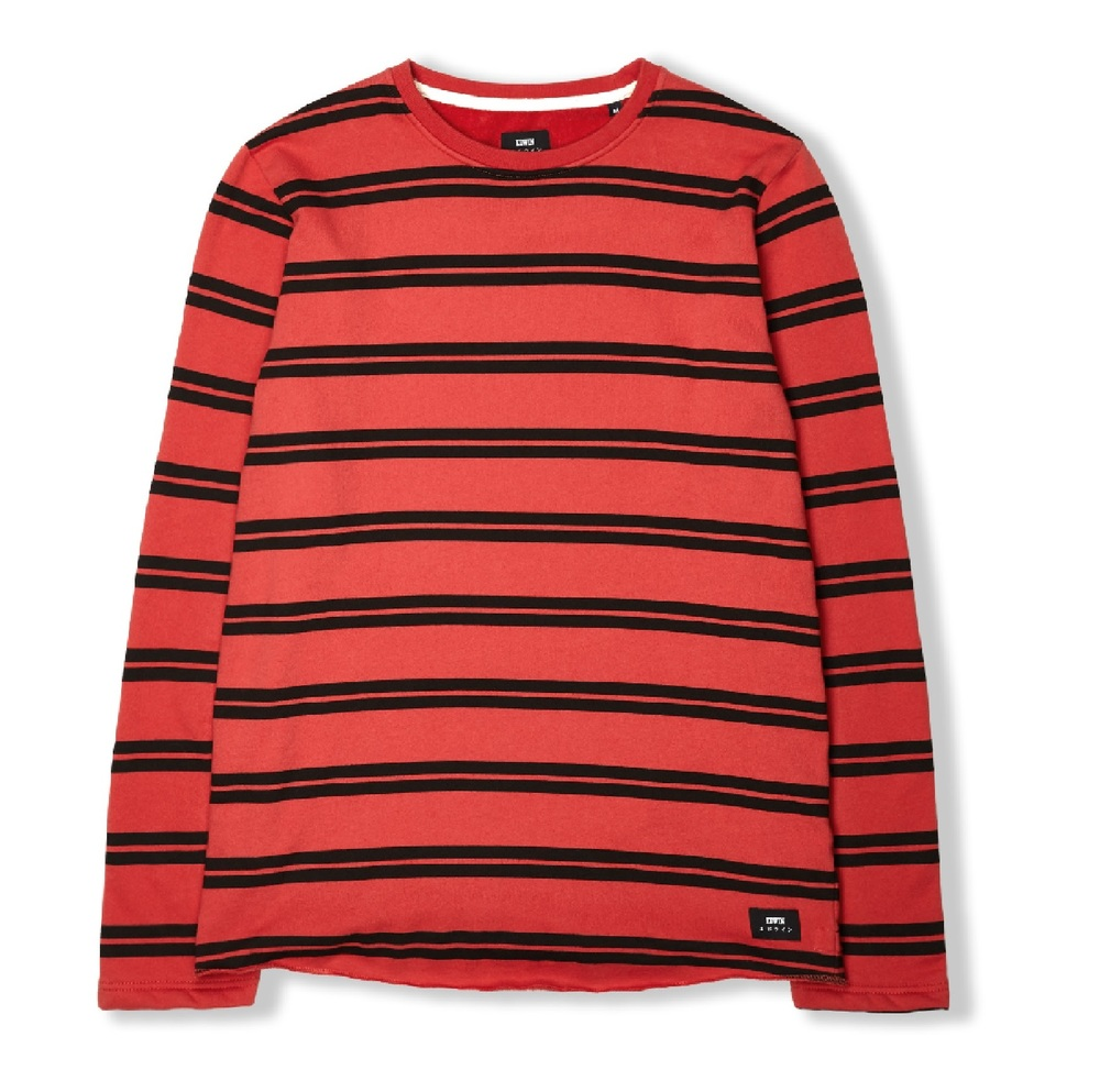 bac93834036 Terry Striped TS Long-Sleeve RED BLACK