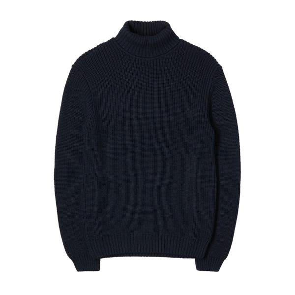 Line Rollneck Sweater Navy Blazer
