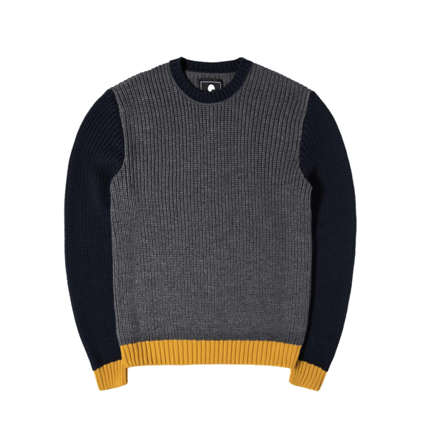 Line Sweater Grey Heather / Navy / Gold