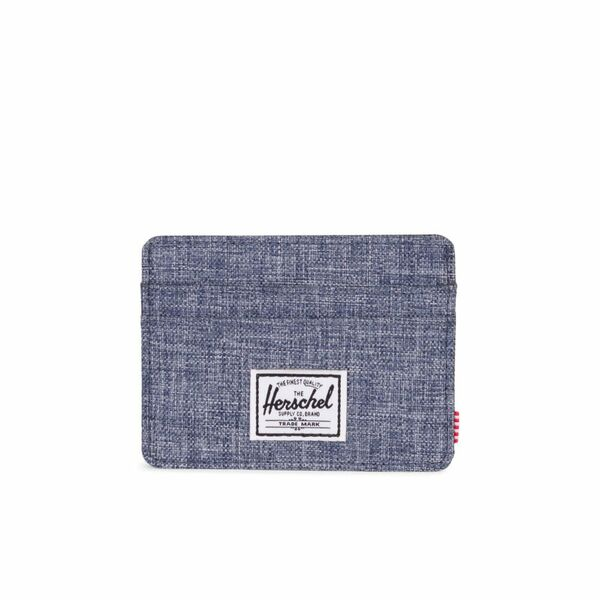 Charlie RFID Dark Chambray Crosshatch