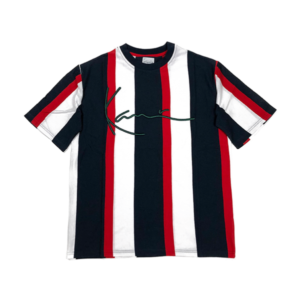 Signature Stripe T-Shirt Navy / Red / White