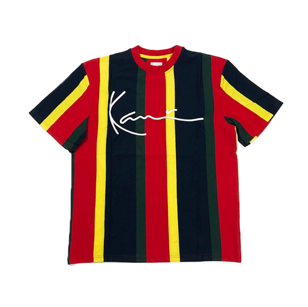 Signature Stripe T-Shirt Yellow / Navy / Green / Red
