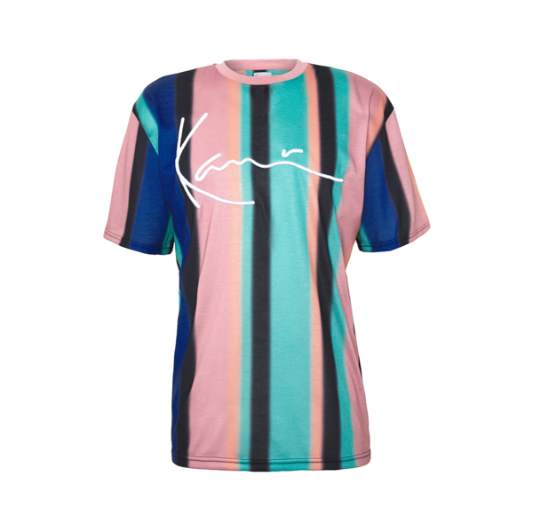 Signature Stripe T-Shirt Turquoise / Black / Blue / Pink