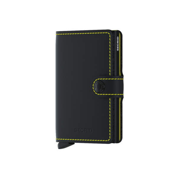 Miniwallet Matte Black / Yellow