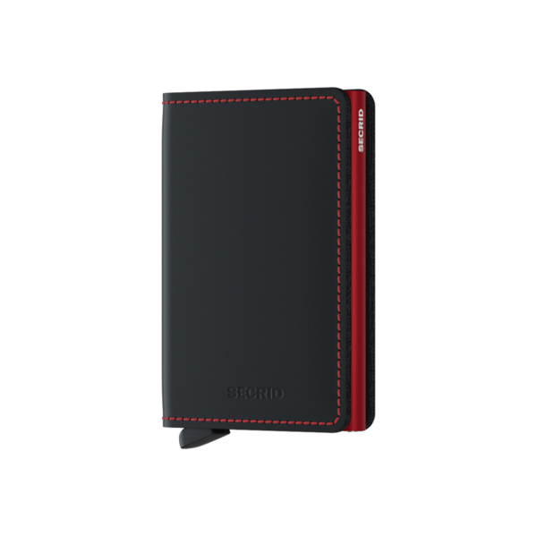 Slimwallet Matte Black / Red