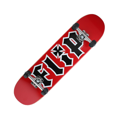 "Flip Complete Skateboard 7.75"" Red"