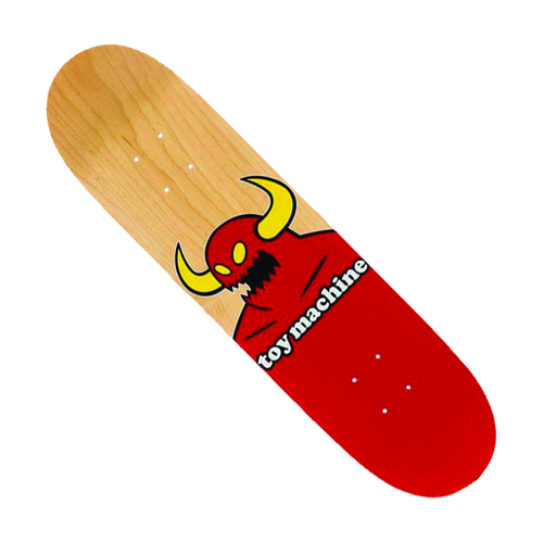 "Monster Deck 8.125"" Red/Raw"