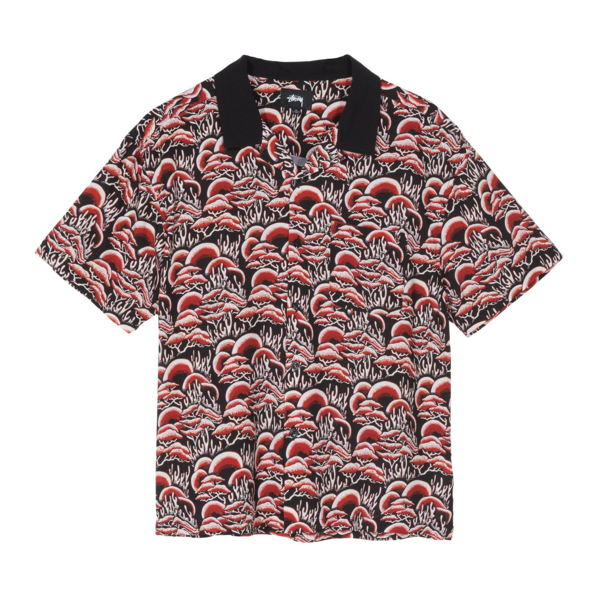 Coral Pattern Shirt Red