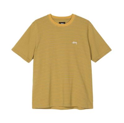 Mini Stripe Crew T-Shirt Mustard