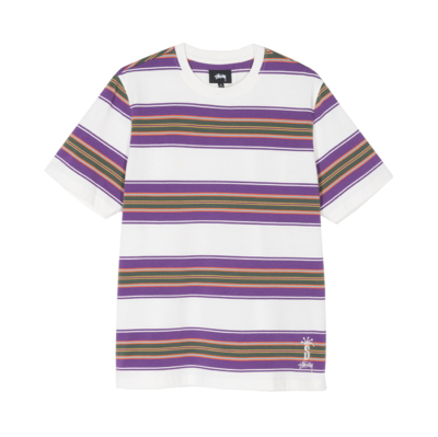 Multi Stripe Crew T-Shirt Natural