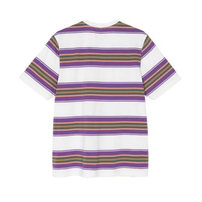 Multi Stripe Crew T-Shirt Natural