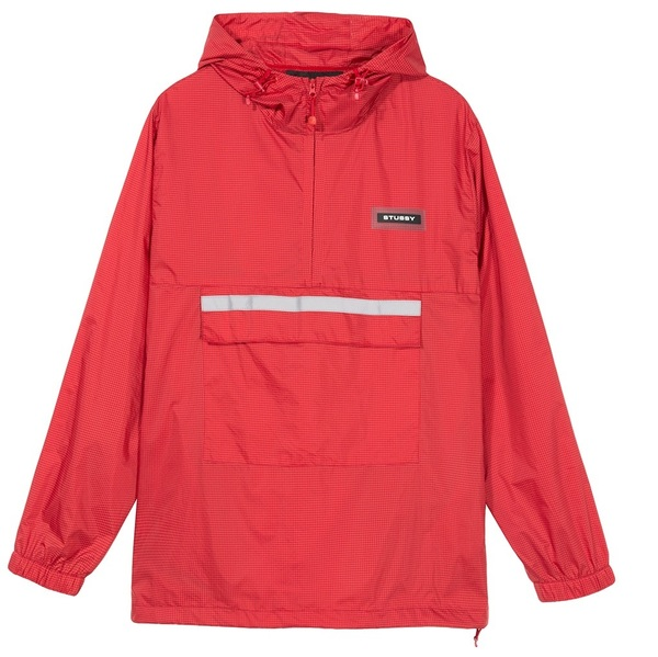CONTRAST RIPSTOP ANORAK red