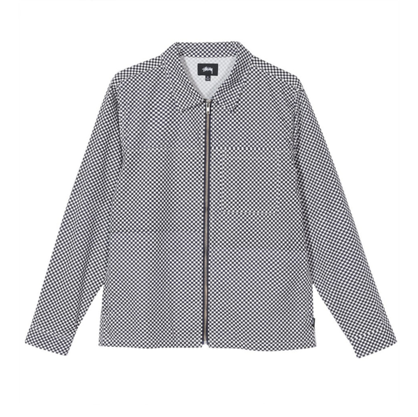 Mini Check Full Zip L/SL Shirt