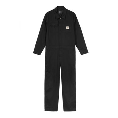 Herringbone Coverall Black