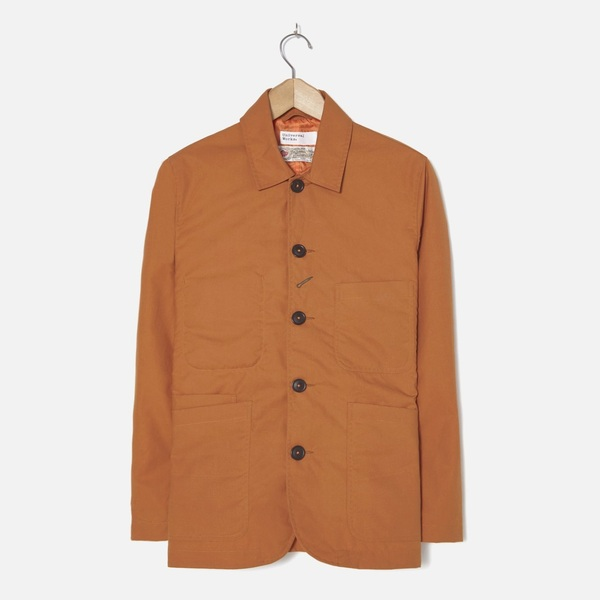 Bakers Jacket Orange British Mill Wax