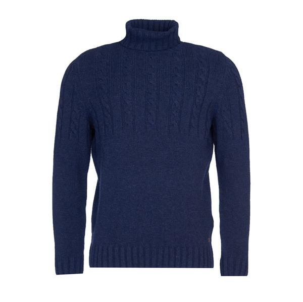 Duffle Cable Crew Sweater Dark Denim