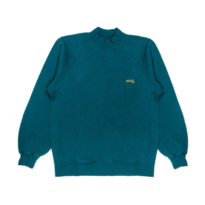 Roll Neck Sweatshirt Carbon Green