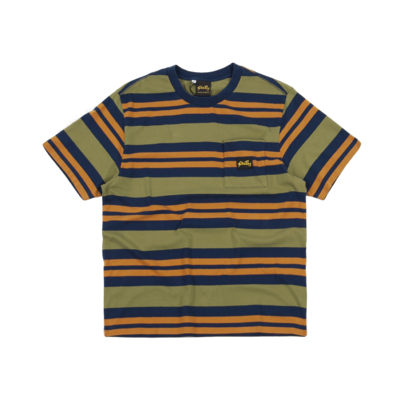 Yarn Dye Stripe Thick T-Shirt Navy